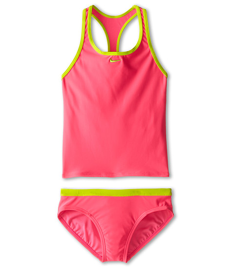 Nike Kids Core Solid Racer Back Tankini And Brief (Big Kids)