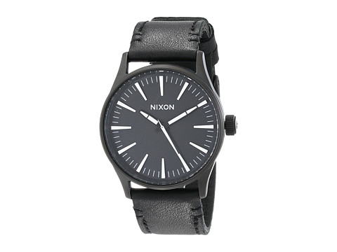 Nixon Sentry 38 Leather - Black/White