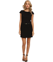 Ellen Tracy - Ponte Drop Waist Short Sleeve Dress