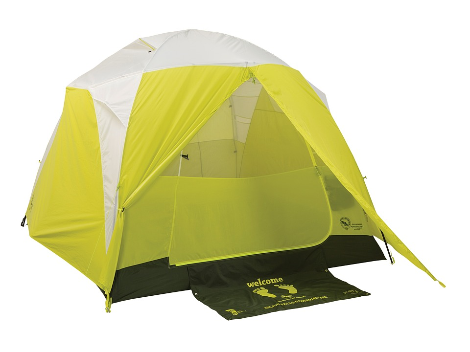 Big Agnes Gilpin Falls Powerhouse 4 Person mtnGLO Tent White/Sulphur Outdoor Sports Equipment