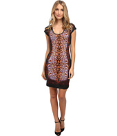 Just Cavalli - Short Sleeve Animal Print Dress