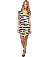 Just Cavalli - Short Sleeve Animal Print Dress