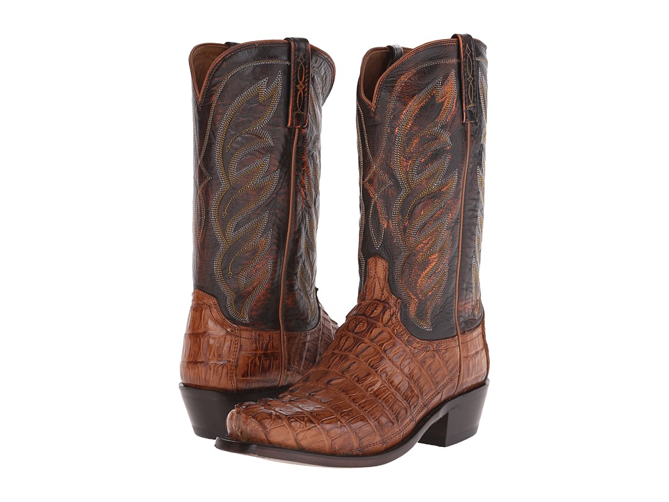 Lucchese M2691 (Tan Hornback Caiman) Cowboy Boots