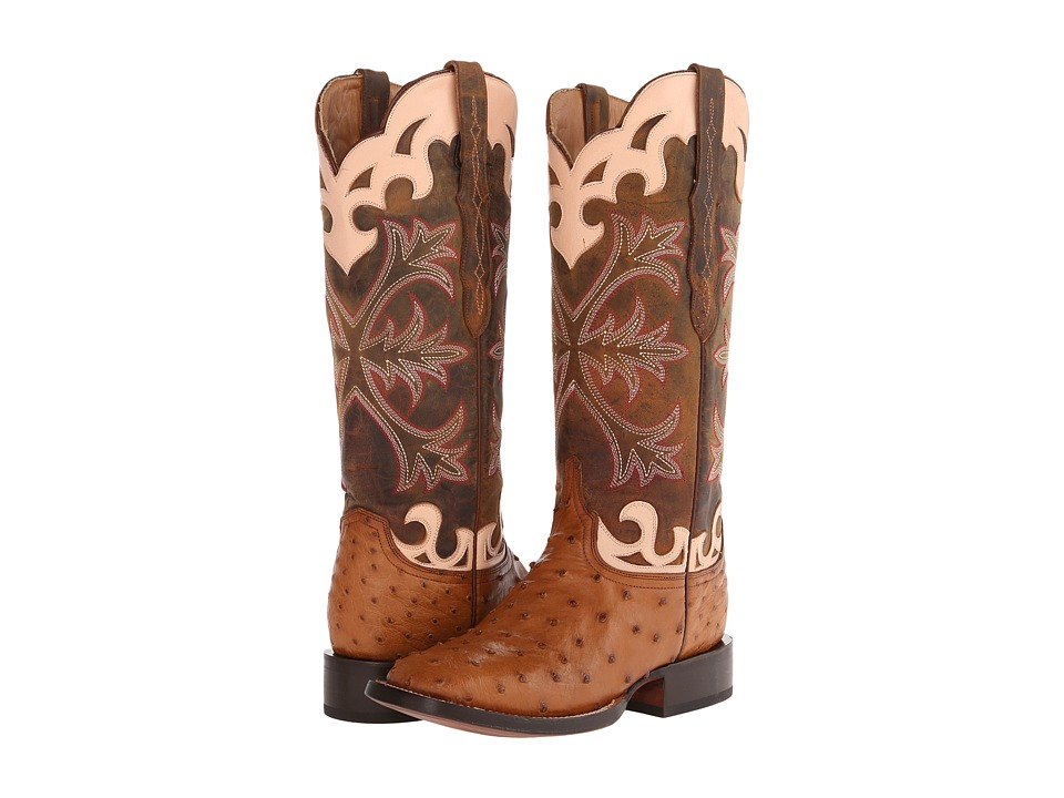 Lucchese - M4939 (Tan Full Quill Ostrich) Cowboy Boots