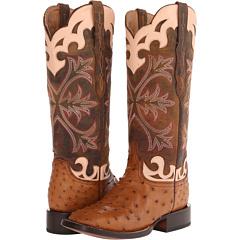 M4939 (Tan Full Quill Ostrich) Cowboy Boots