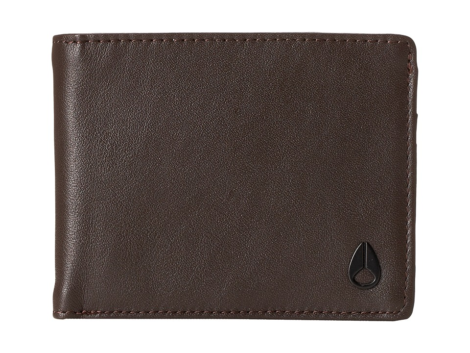 Nixon - Escape Bifold w/ Removable Currency Clip (Brown) Wallet Handbags