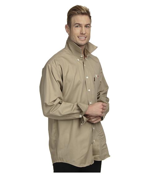 Cinch L S Cinch Wrx Flame Resistant Twill Solid Khaki