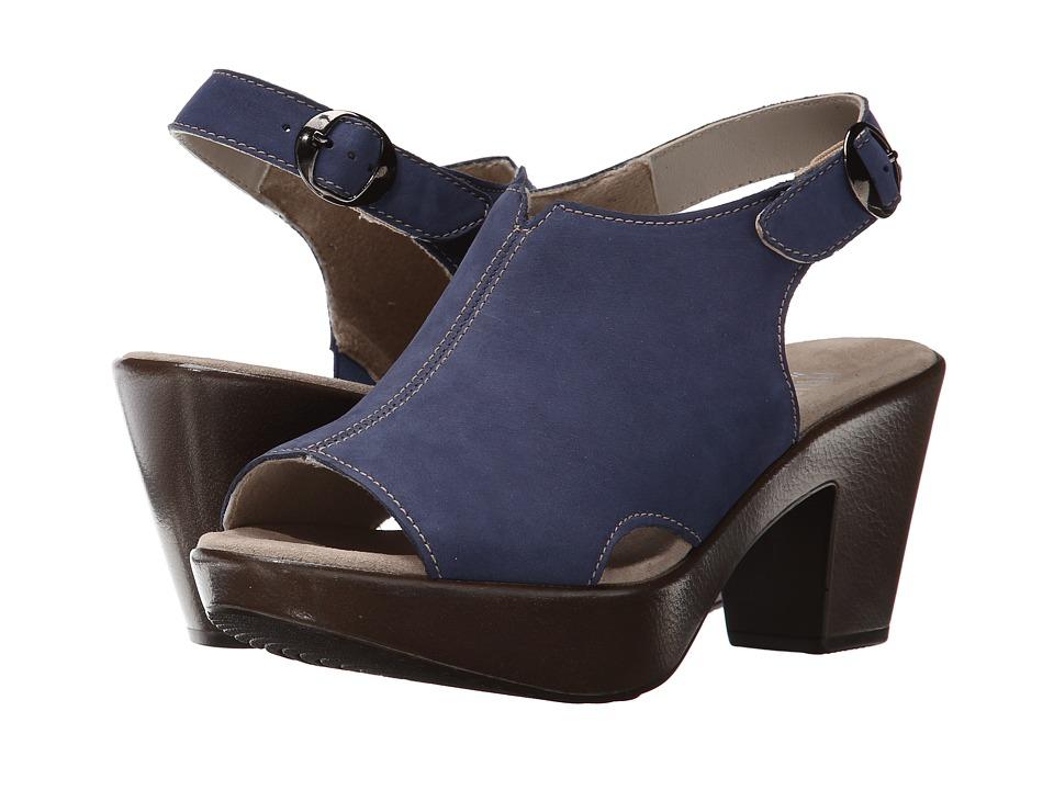 Munro American Kirsten Blue Nubuck High Heels