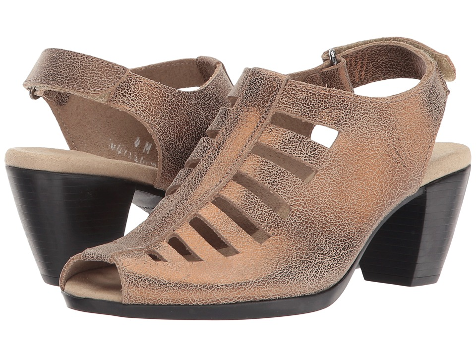Munro American Abby Golden Taupe Nubuck Womens Shoes