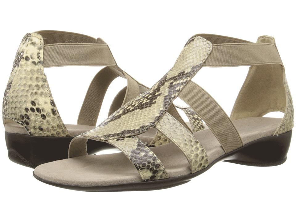 Munro American Zena Khaki Python Womens Sandals
