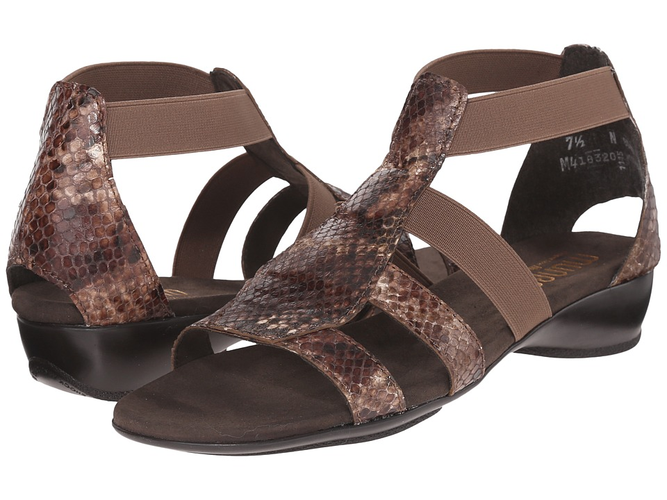 Munro American Zena Brown Python Womens Sandals