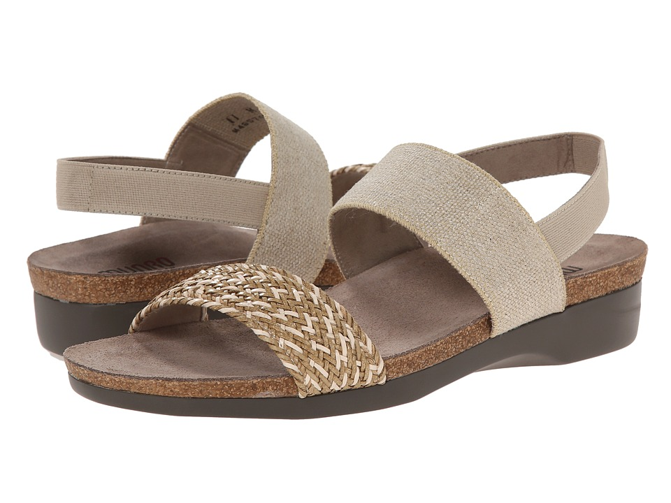 Munro American Pisces Natural Multi Woven Womens Sandals