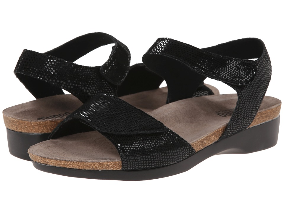 Munro American Catelyn Black Print Womens Sandals
