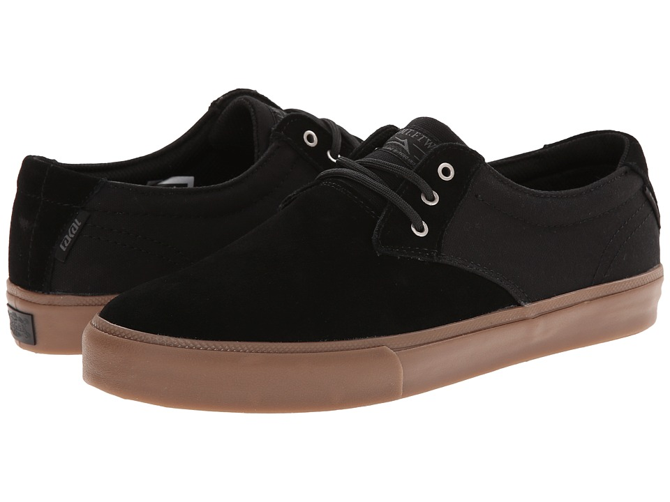 Lakai M.J. Black/Gum Suede Mens Skate Shoes