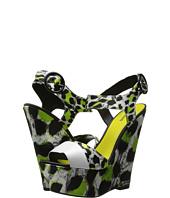 Just Cavalli - Mixed-Print Peep-Toe Wedges