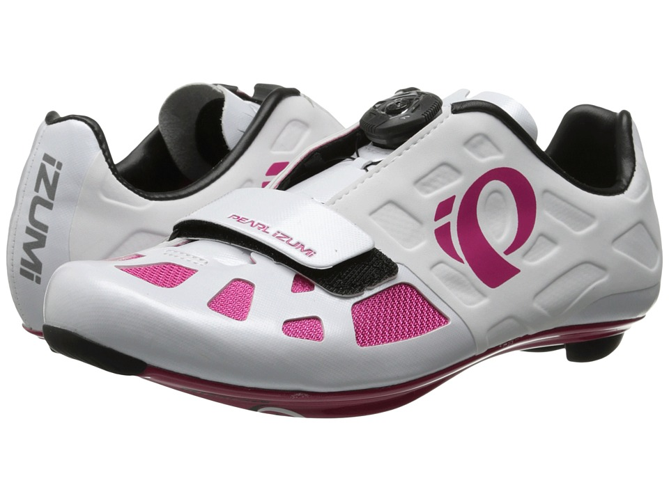 Pearl Izumi - Elite RD IV (White/Pink Punch) Womens Cycling Shoes