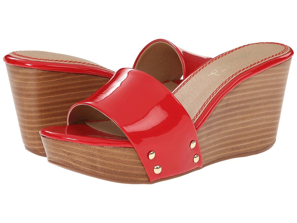 Splendid - Greenville (Paprika Patent) Women's Wedge Shoes