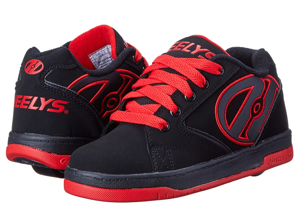 Heelys Propel 2.0 (Little Kid/Big Kid/Adult) (Black/Black/Red) Boys Shoes