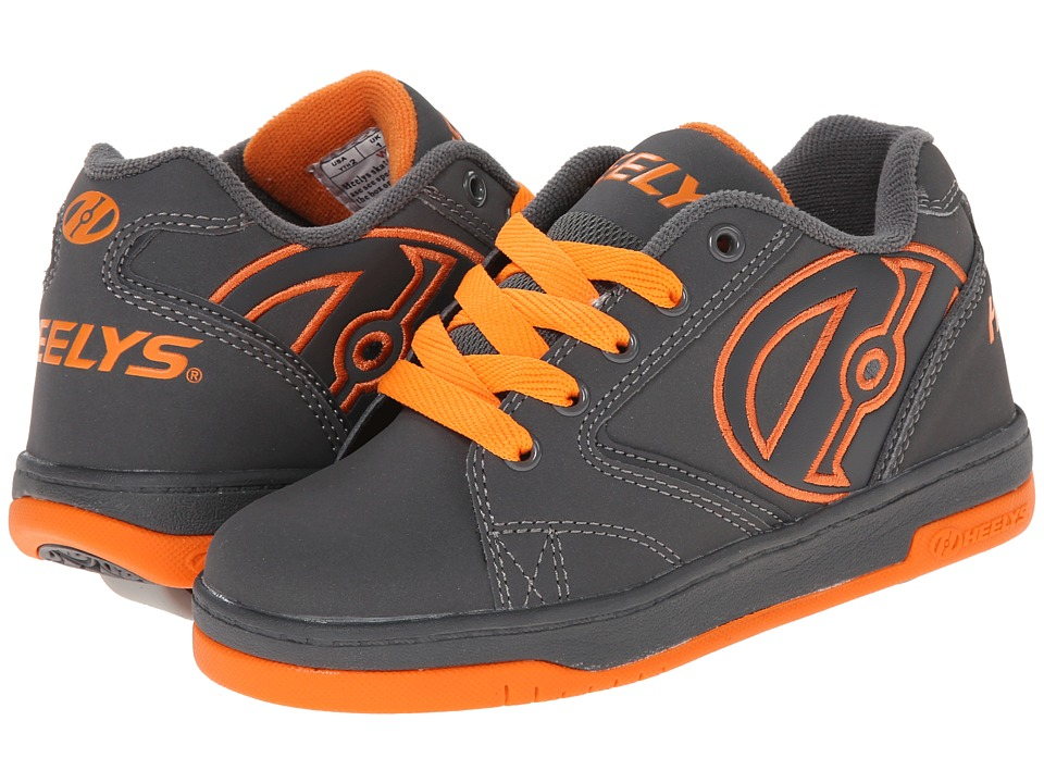 Heelys Propel 2.0 Little Kid/Big Kid/Adult Grey/Grey/Orange Boys Shoes