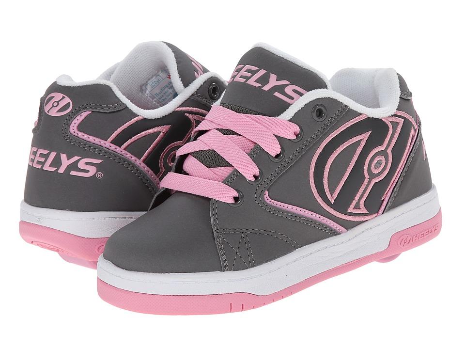 Heelys Propel 2.0 (Little Kid/Big Kid/Adult) (Grey/Pink/White) Girls Shoes