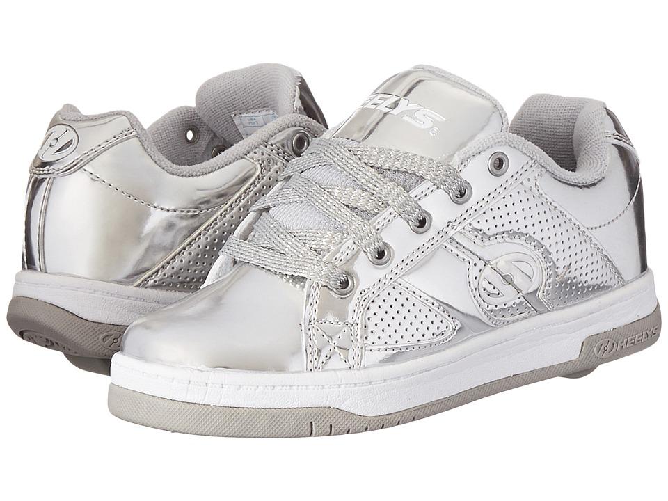 Heelys Split Chrome Little Kid/Big Kid/Adult Silver/Chrome Girls Shoes