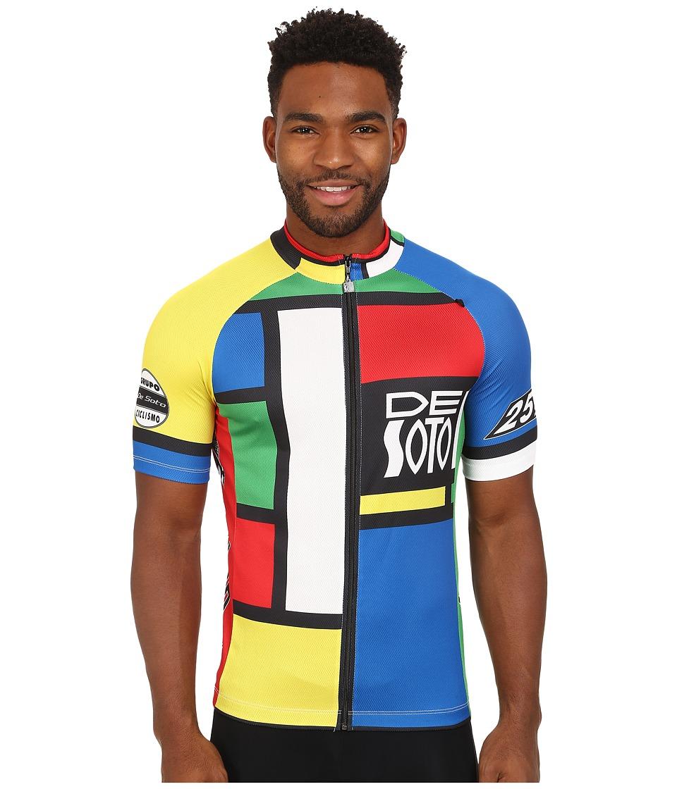 De Soto Skin Cooler Bike Jersey Mondrian Color Mens Clothing