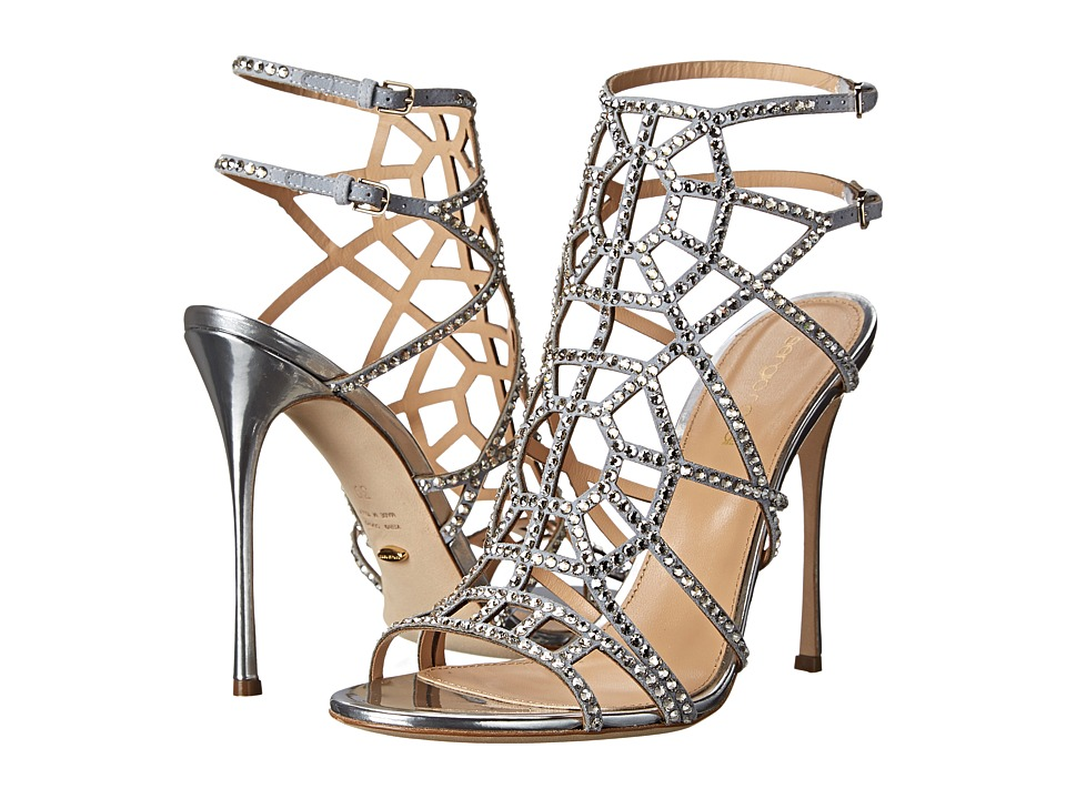 Sergio Rossi Puzzle Basic (Silver) High Heels