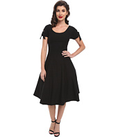 Unique Vintage - Stretch Key-Hole Doris Swing Dress