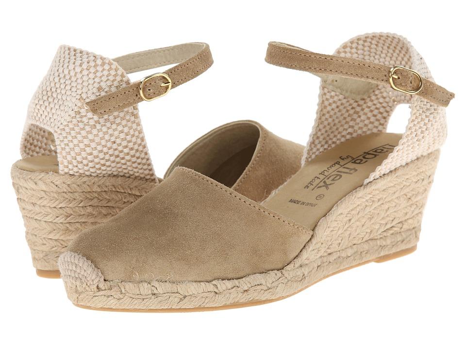 David Tate Europa (Bone) Women's Wedge Shoes