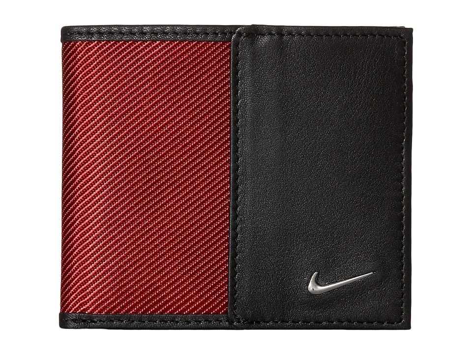 Nike - Nike Leather/Tech Twill Billfold (Red) Bill-fold Wallet