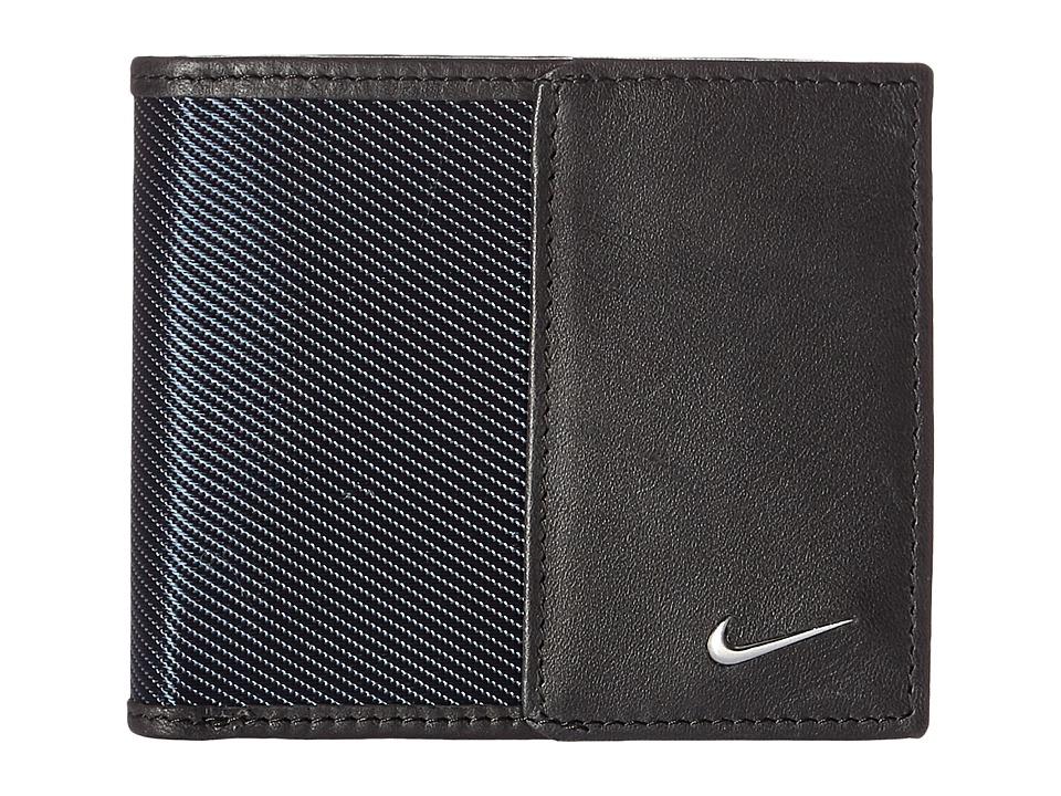 Nike - Nike Leather/Tech Twill Billfold (Navy) Bill-fold Wallet
