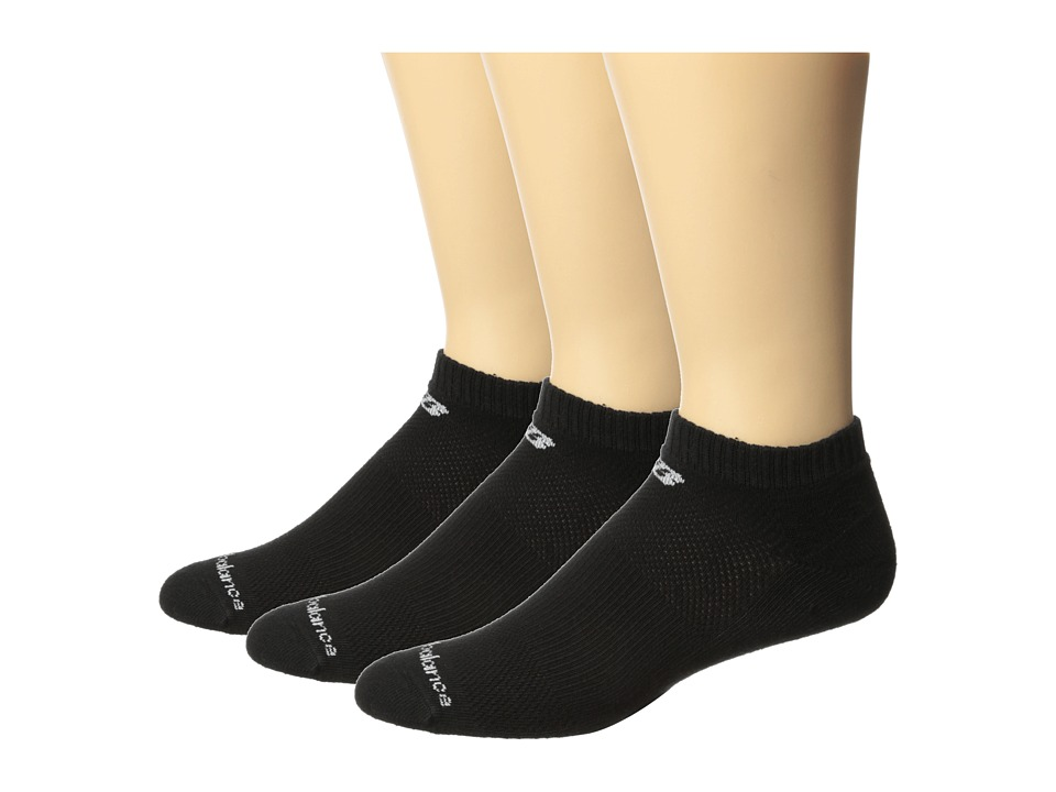 New Balance - Cotton Low Cut 3 Pack (Black) Low Cut Socks Shoes