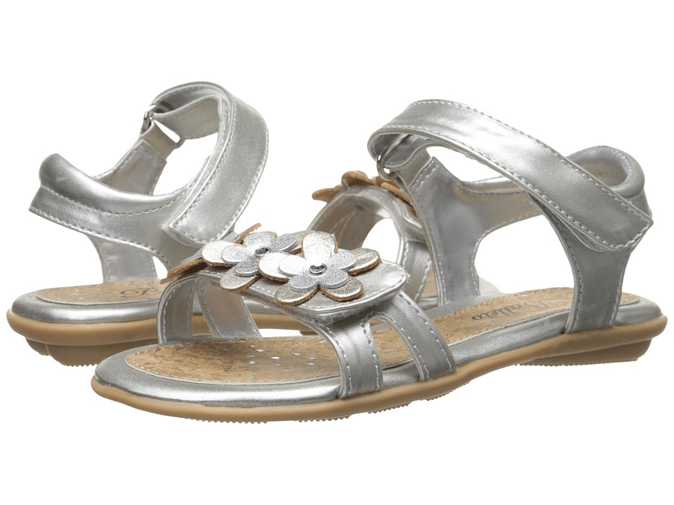 Jumping Jacks Kids - Balleto - Jasmine (Toddler/Little Kid/Big Kid) (Silver Metallic/Soft Gold Metallic Trim) Girls Shoes