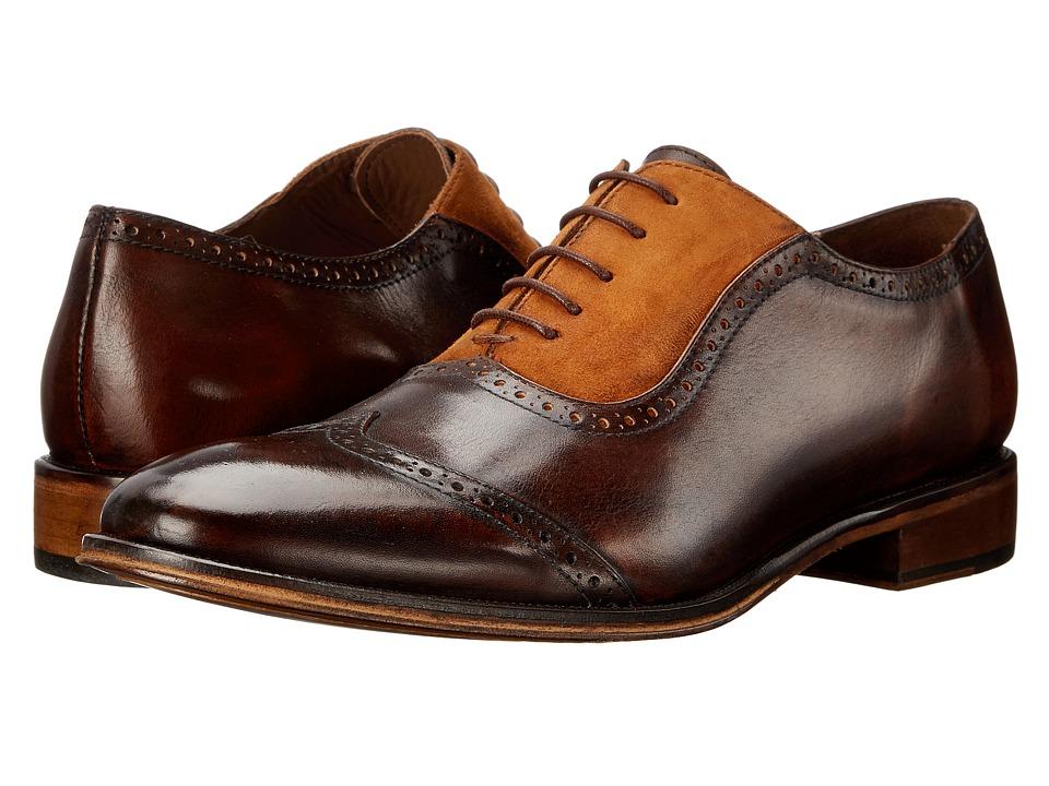 Messico Felix Brown/Tan Suede Mens Dress Flat Shoes