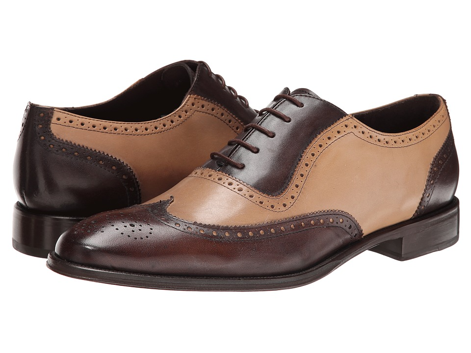 Rockabilly Men's Clothing Messico - Capuchino BrownNatural Leather Mens Dress Flat Shoes $139.00 AT vintagedancer.com