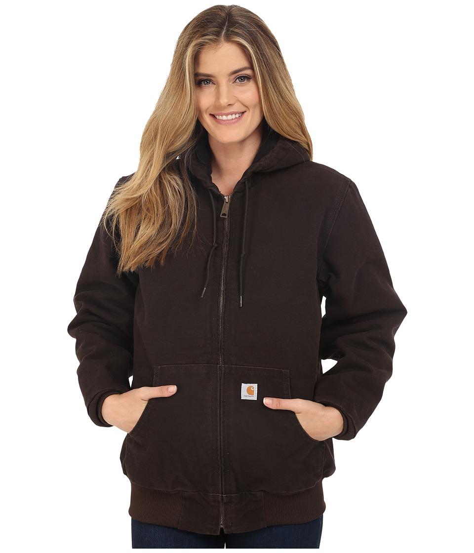 Carhartt Sandstone Active Jacket (Dark Brown) Women's Coat