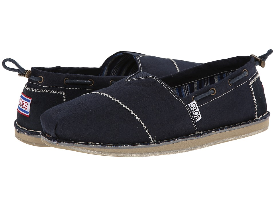BOBS from SKECHERS Bob Chill Rowboat Navy Womens Flat Shoes