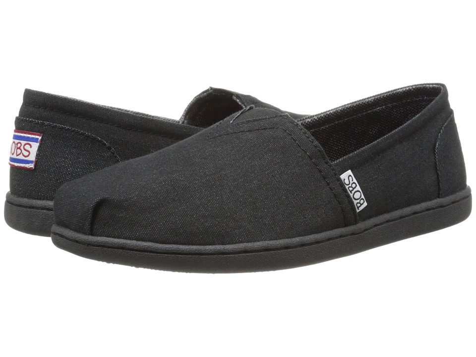 BOBS from SKECHERS Bobs Bliss Spring Step Black/Black Womens Flat Shoes