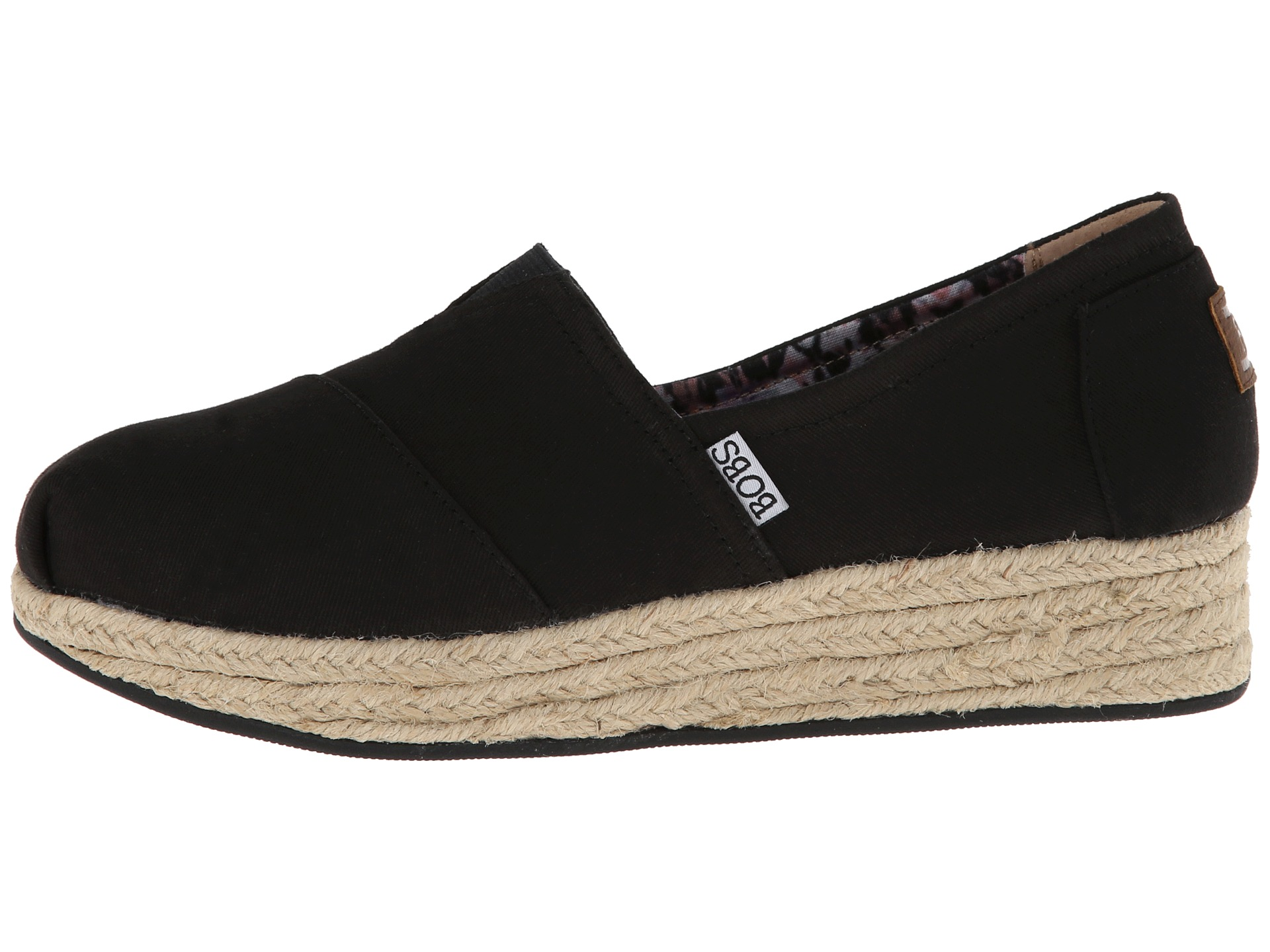bobs from skechers wedge espadrille memory foam zappos. Black Bedroom Furniture Sets. Home Design Ideas