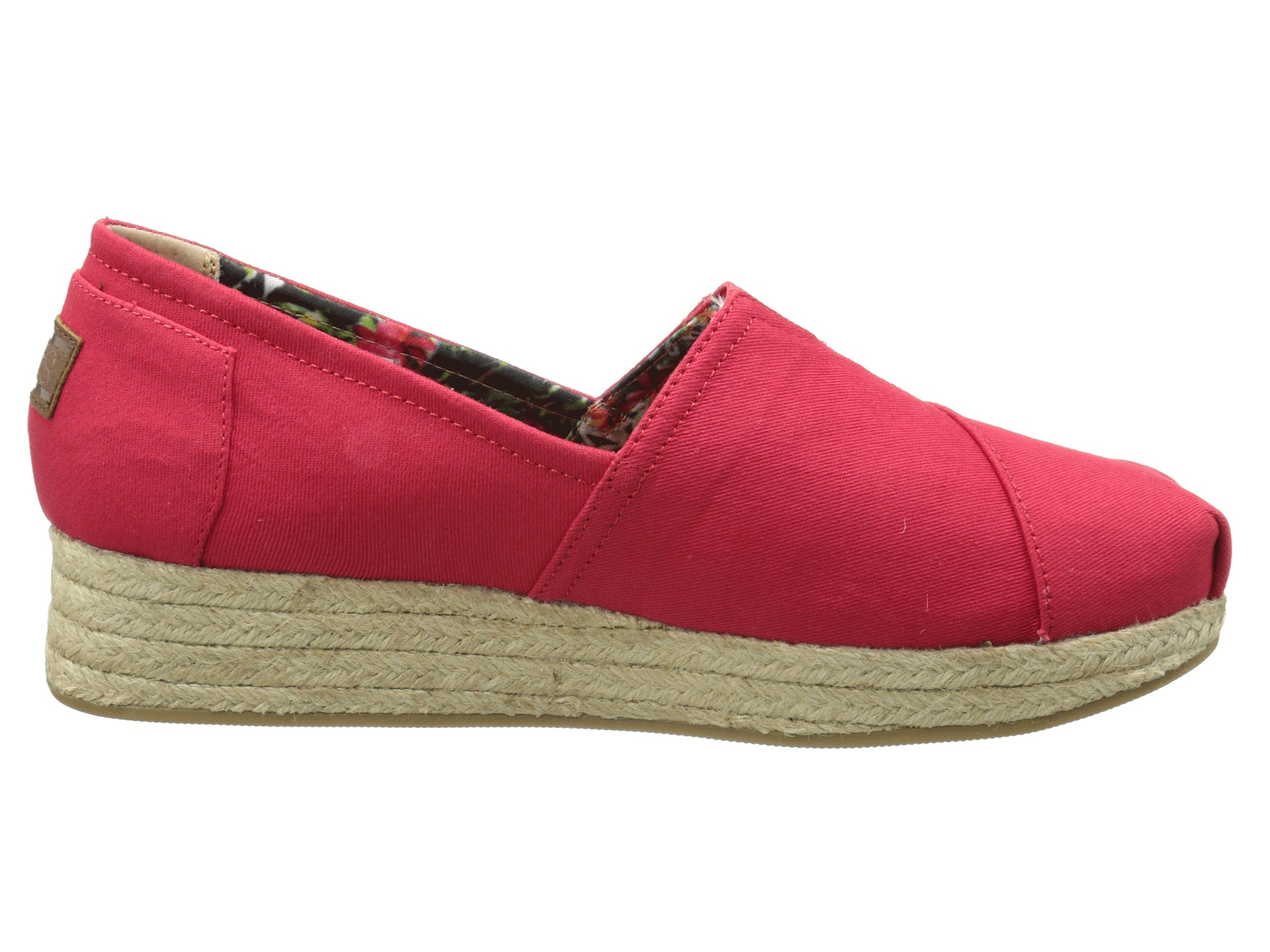 BOBS From SKECHERS Wedge Espadrille Memory Foam Red - Zappos.com Free Shipping BOTH Ways