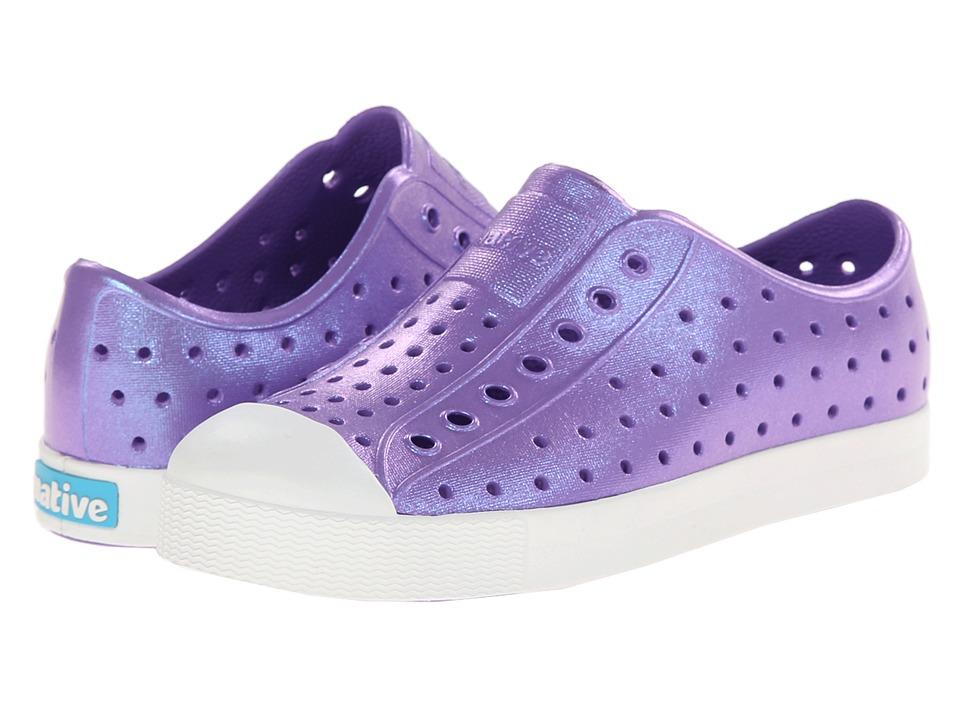 Native Kids Shoes Jefferson Little Kid Techno Purple Iridescence Girls Shoes
