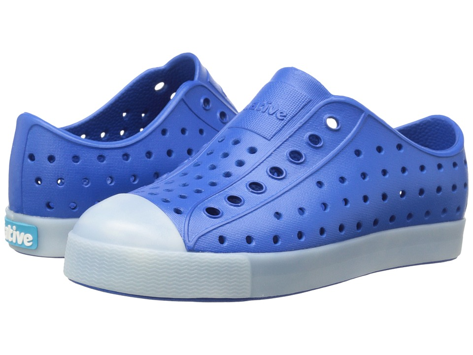 Native Kids Shoes Jefferson (Toddler/Little Kid) (Victoria Blue Glow In the Dark) Boys Shoes