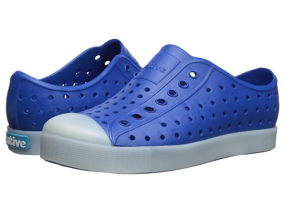 Native Kids Shoes Jefferson Little Kid Victoria Blue Glow In the Dark Boys Shoes