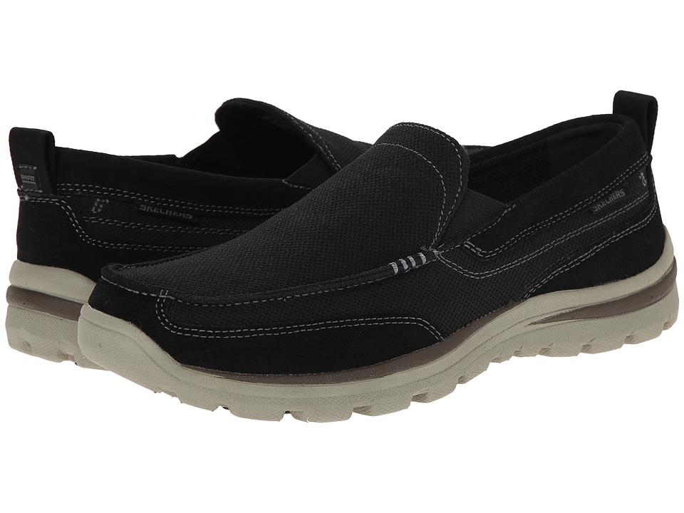 Skechers Relaxed Fit Superior - Milford (Black) Men's Sli...