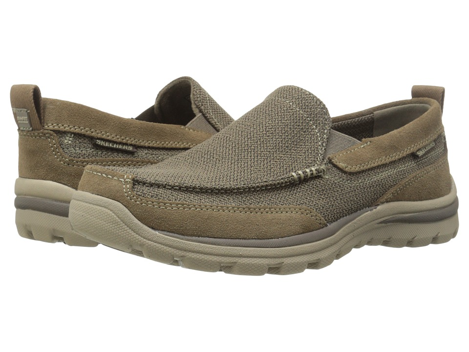Skechers Relaxed Fit Superior - Milford (Light Brown) Men...