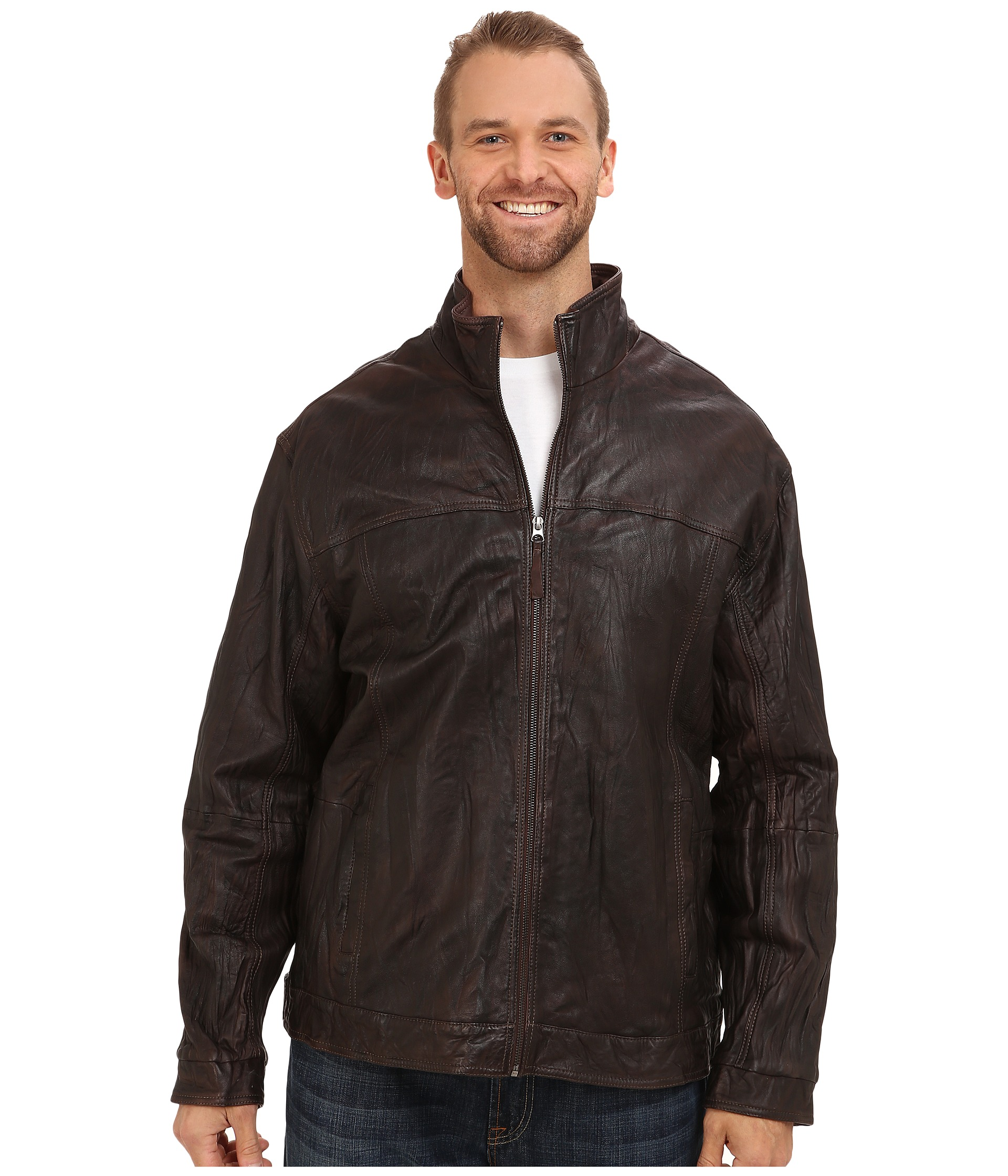 Tommy Bahama Big & Tall Big & Tall Sunset Rider Leather Jacket $325.99 (55% off MSRP $725.00
