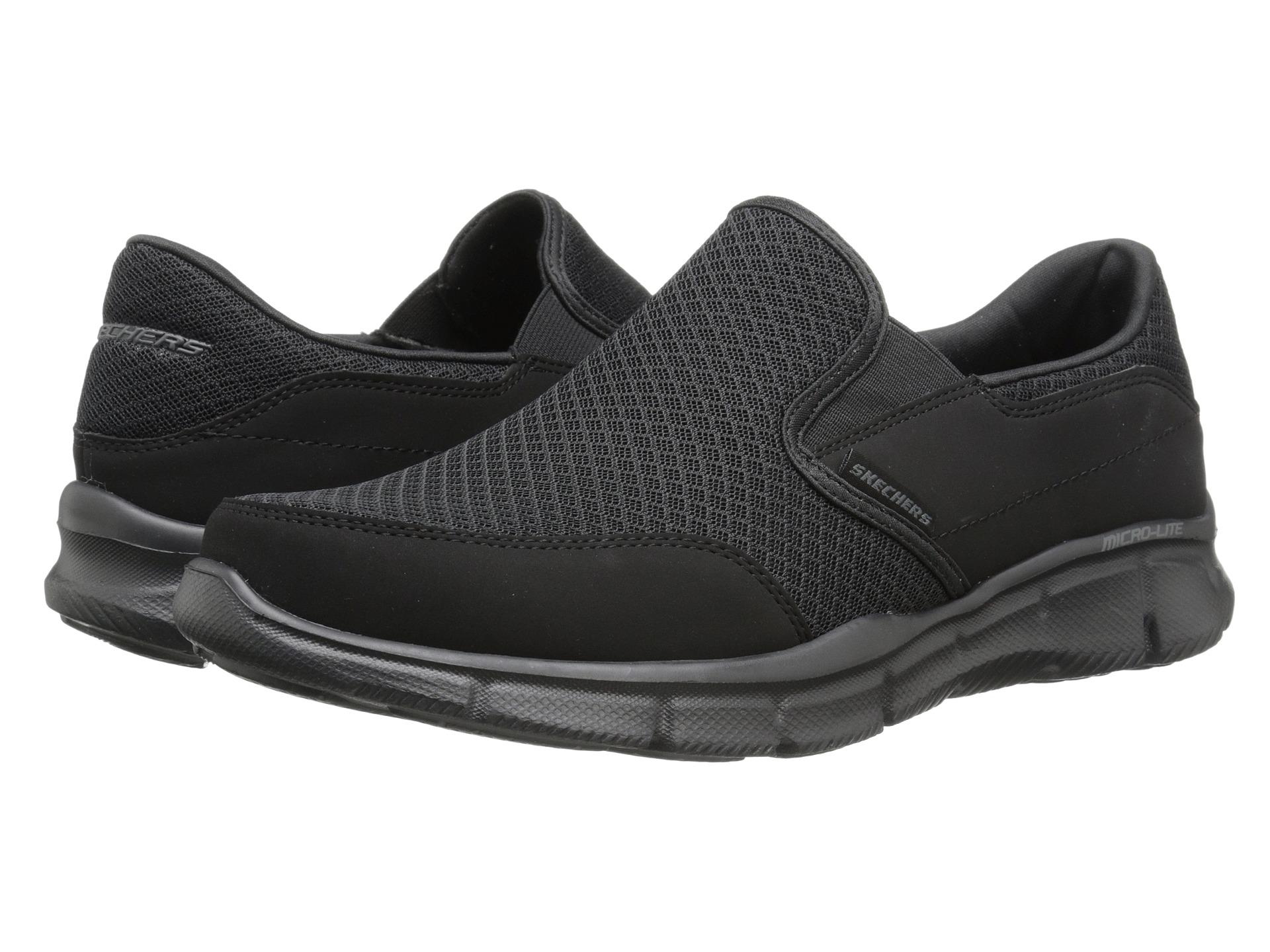 Skechers Black Equalizer Persistent Slip On Shoes