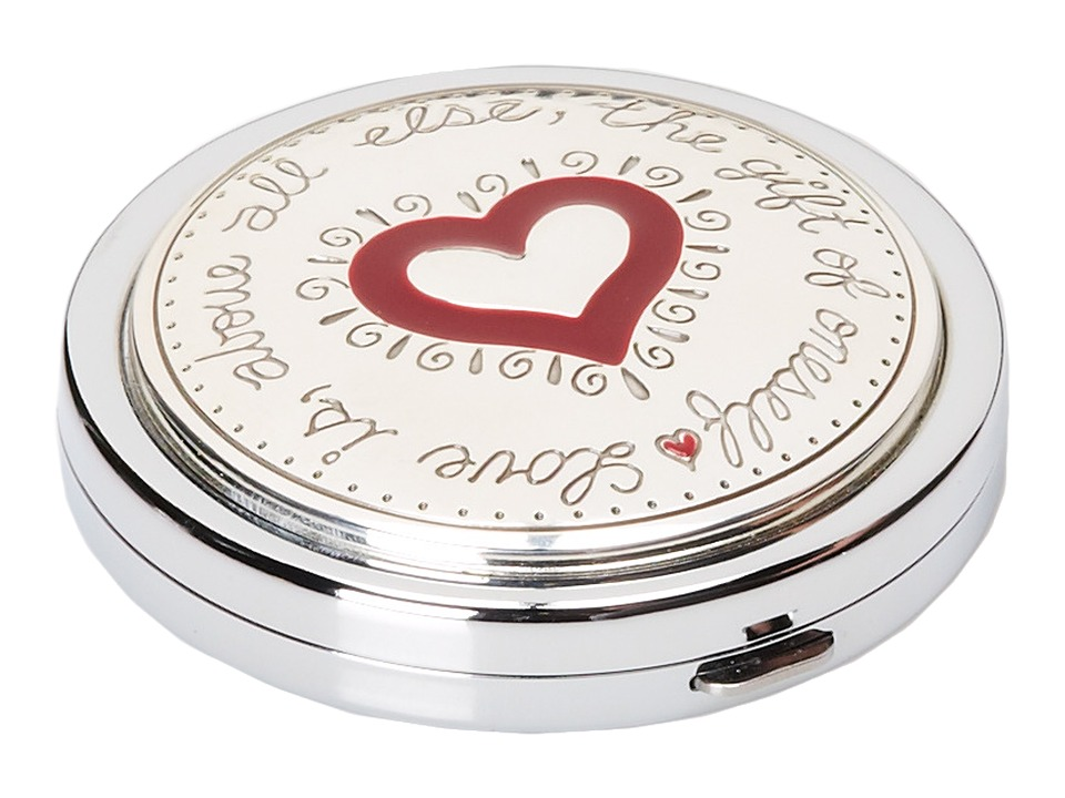 Brighton - Joyful Heart Compact (Silver/Enamel) Wallet