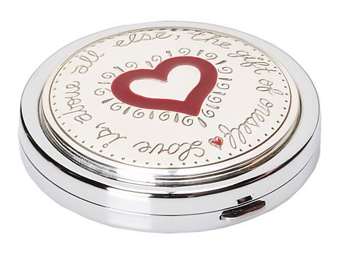 Brighton Joyful Heart Compact - Silver/Enamel