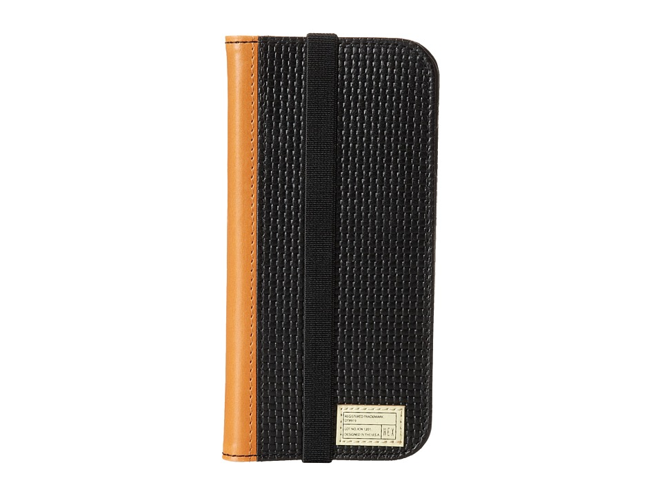 HEX - iPhone6/6S Icon Wallet (Black Woven Leather) Cell Phone Case